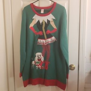 Holiday Time Ugly X-Mas Sweater Bells Poodle 2XL